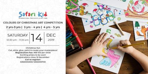 Colours of Christmas Art Competition- Safari Kid Sadahiva Nagar