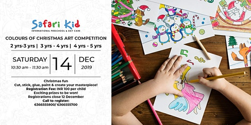 Colours of Christmas Art Competition- Safari Kid Sadahiva Nagar