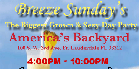 Breeze Sunday's Grown & sexy day party tickets