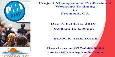 PMP weekend Bootcamp in Fremont-Dec-7,8,14,15-2019