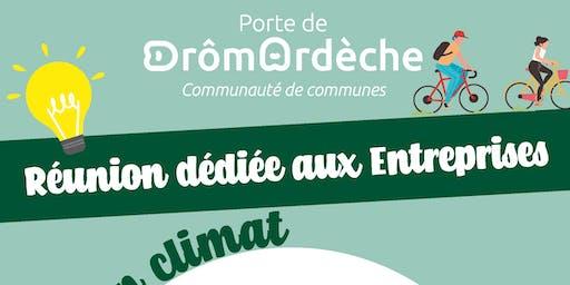 """Réunion """"Plan Climat"""" dédiée aux entreprises"""