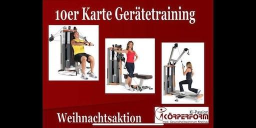 Weihnachtsangebot Geräte Training /medizinische Fitness Karten (10er, 5er)/Freistett