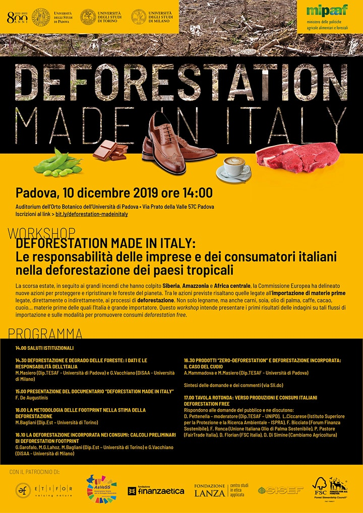 Immagine Deforestation Made in Italy
