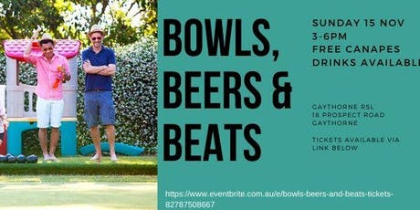 Bowls, beers and beats tickets