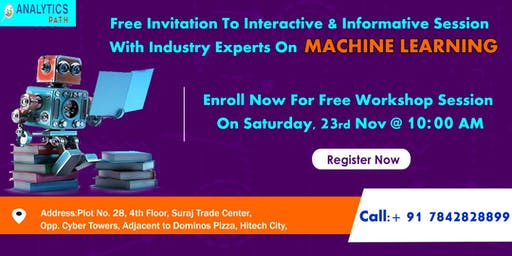Attend For Free Machine Learning Interactive Workshop Session To Kick Start