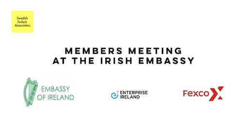 Members meeting at the Irish Embassy