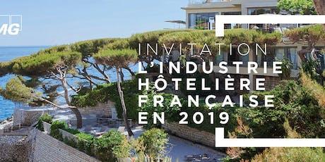 """Conférence sur l'étude """"Industrie Hôtelière Française en 2019"""" billets"""