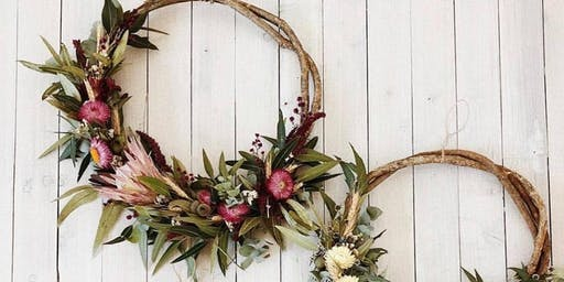 Dried Flower Christmas Wreath Making Workshop | Bush Fire Appeal
