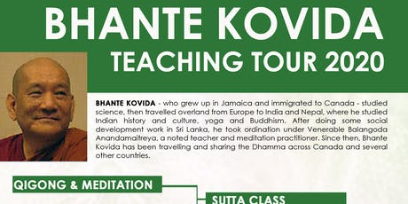 2-Day Satipathana Meditation Retreat with Bhante Kovida tickets
