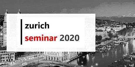 Zurich Seminar 2020 Tickets