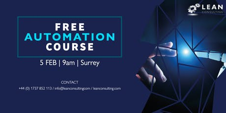 FREE Automation Course tickets