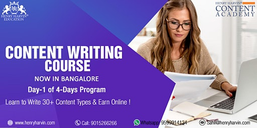 Day 1 Content Writing Course in Bangalore
