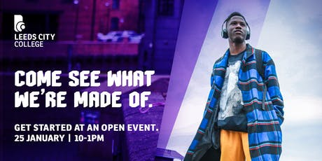Leeds City College Open Day 25 January tickets