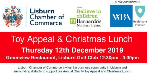 Charity Toy Appeal & Christmas Lunch 2019 in aid of Barnardo's Lisburn
