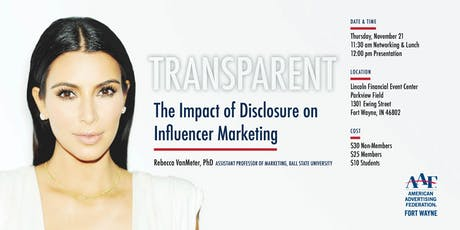 TRANSPARENT: The Impact of Disclosure on Influencer Marketing tickets
