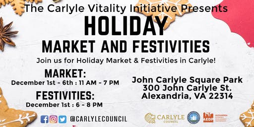 Carlyle Holiday Festivities, Market, and Movie! Rain or Shine!