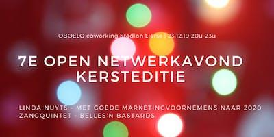 7e Open Netwerkavond, Kersteditie, coworking OBOELO Stadion Lierse