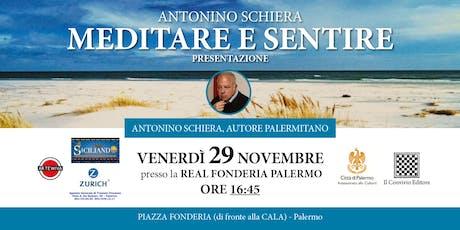 Presentazione della terza raccolta di poesie di Antonino Schiera biglietti