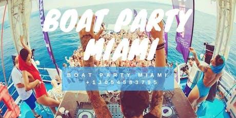 Miami Booze Cruise - Miami Party Boat- Unlimited drinks billets