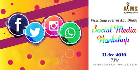 Make new Resolutions to welcome 2020, Social Media Workshop is hard to MISS tickets