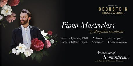 Piano Masterclass with Benjamin Goodman tickets
