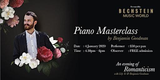 Piano Masterclass with Benjamin Goodman