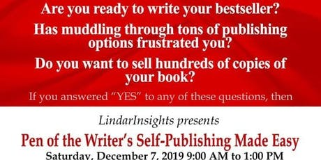 LindarInsights Publishing Presents Self-Publishing Made Easy tickets