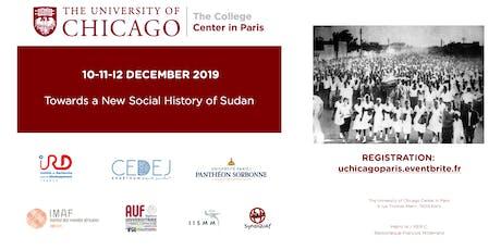 Towards a New Social History of Sudan tickets
