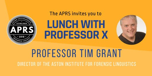 APRS Lunch with Prof Tim Grant