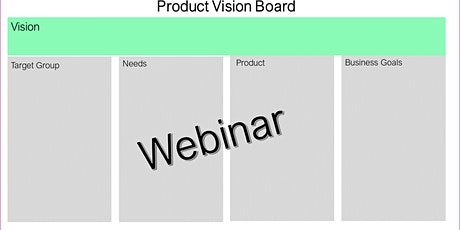 Webinar:Product Vision Board - 17/12 - GRATUITO ingressos
