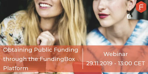 Webinar: Obtaining Public Funding through the FundingBox Platform