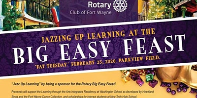 "Rotary's ""Big Easy Feast"" on Fat Tuesday, February 25, 2020!"