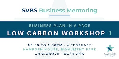 Business Plan on a Page - Low Carbon Workshop 1
