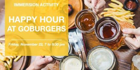 Happy Hour at Go Burgers ingressos