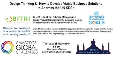 Shorn Molokwane (BITRI): Design Thinking - How to tackle Global Challenges tickets