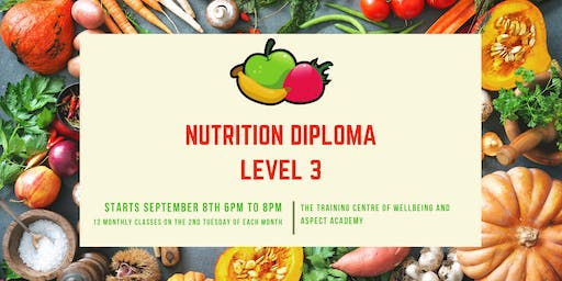 Level 3 Diploma in Nutritional Therapy (12 month course)