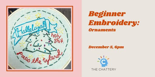 Beginner Embroidery: Ornaments