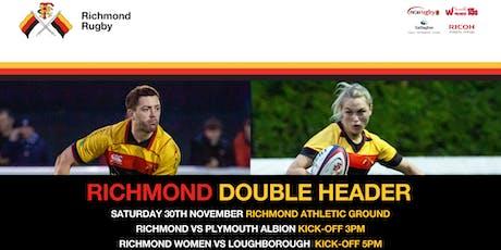 DOUBLE HEADER: Richmond vs Plymouth / Richmond Women vs Loughborough tickets