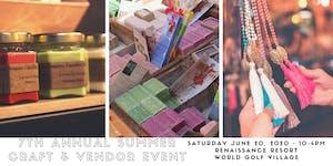7th Annual Summer Craft & Vendor Event