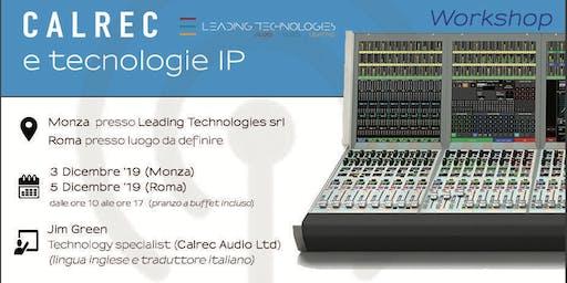 Workshop Calrec Audio Ltd e tecnologie IP