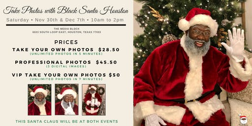 Meet The Black Santa Houston & Take Pics with The Real Black Santa Claus!