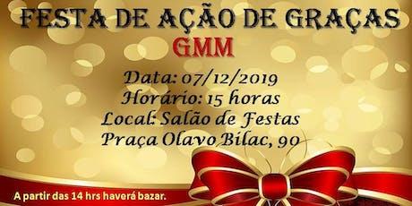 FESTA DE AÇÃO DE GRAÇAS ingressos