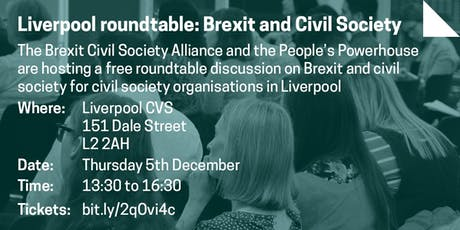 Liverpool roundtable: Brexit and Civil Society tickets