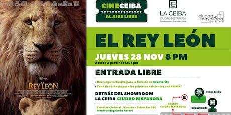 """Cine Ceiba presenta """"El Rey León"""" en La Ceiba, Ciudad Mayakoba entradas"""