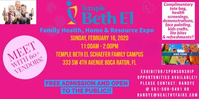 Temple Beth El  of Boca Raton  Health, Home and Resource Expo 2020