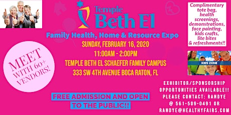 Temple Beth El  of Boca Raton  Health, Home and Resource Expo 2020 tickets