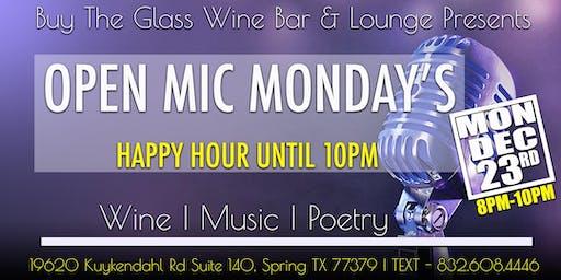 Open Mic Monday's  | Music, Poetry & Wine