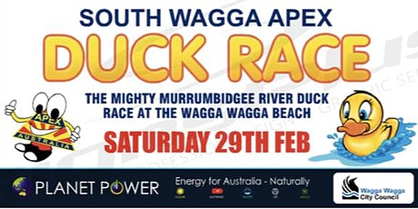 South Wagga Apex, Mighty Murrumbidgee River Duck Race and River Festival  tickets