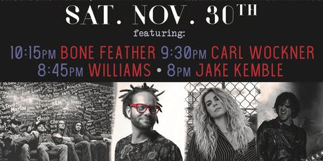 Bone Feather, Carl Wockner, Williams, Jake Kemble tickets