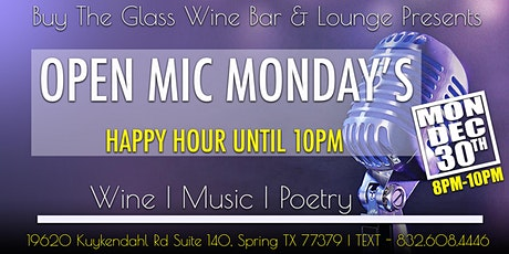 Open Mic Monday's  | Music, Poetry & Wine tickets